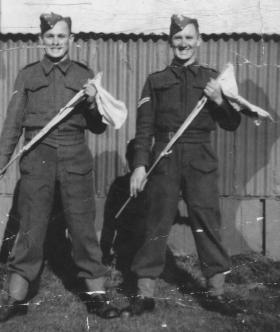 Pte 'Bill' Willetts and Cpl  'Bob' Struthers,  date unknown.