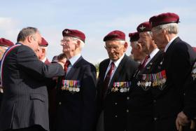 James French (centre) at Merville Battery commemoration.