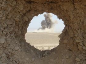 Target hit, Op Herrick VIII, Afghanistan 2008.