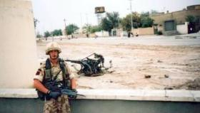 Pte Dan Rogers, Support Company, 1 PARA, Ad Dayr, Iraq, 2003.
