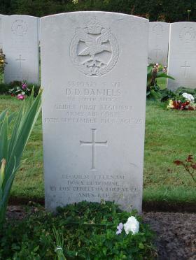Headstone of S/Sgt Deane-Daniels Oosterbeek War Cemetery, 2009