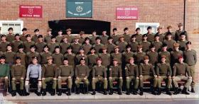 Platoon Commanders' Division at Warminster, c1986.