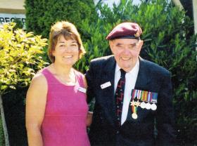 David King and his daughter Rosamund, Normandy, 2004.