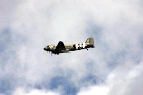 A picture of  a Dakota flying over Ginkle Heath, near Arnhem, 22 September 2012.