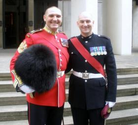 RSM Darren Chant, Grenadier Guards and RSM Richard Turner, 4 PARA, 2009.
