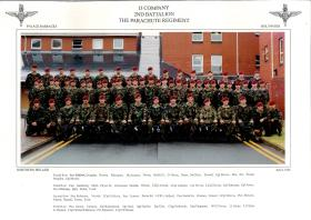 D Company, 2 PARA, Palace Barracks, Northern Ireland, 1995.