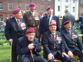 Recipients of the Légion d'Honneur, with Lt Col John Handford, Royal Hospital Chelsea. 2010.