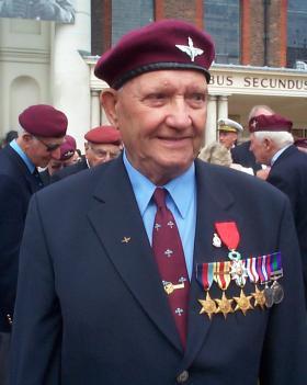 Colour Sergeant Alexander Sutton after receiving the Légion d'Honneur, 2010.