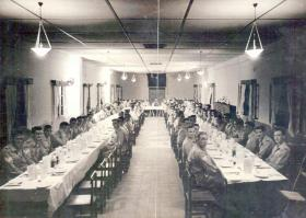 'D Day Dinner and Social Evening' held at 8th Battalion Sgts' Mess Camp 148 Haifa MELF 6 June 1947
