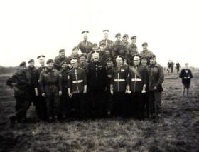 Coldstream Guards Paratroopers and others Coldstream Gdsmn during a recruiting drive, Newcastle, 1957.