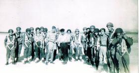 Members of airborne forces at RAF Aqir, c1947.