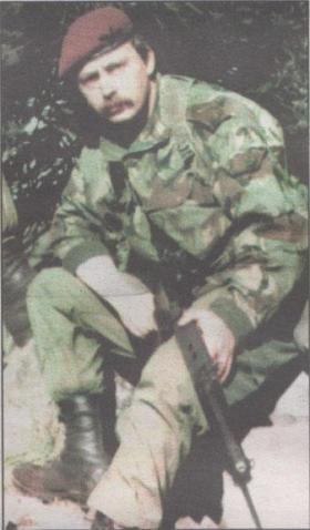 L/Cpl Denzil Connick,  co-founder of SAMA82