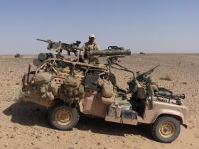 WMIK on Herrick IV, Afghanistan, 2006.