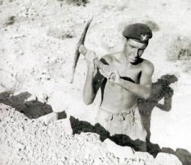 Gdsm Anderson, on exercise prior to Suez, Cyprus, c1956.