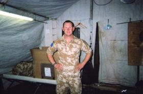 Pte Bremner Scott at Al Amarah on Op Telic 7