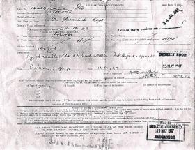 Pte Walter Steven's Release Leave Certificate 1947