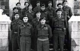 Senior officers of 6th Airborne Division with Field Marshal Montgomery, Ardennes, January 1945.
