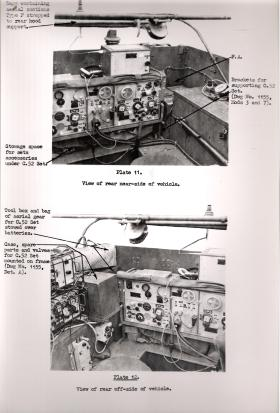 Document showing the additional Wireless Sets in the M3 Scout Car, AFDC, 1945.