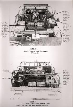 Document showing the interior modifications to the M3 Scout Car for Airborne use, AFDC, 1945.