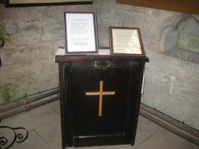 Donington Church lectern made by Jack Hobbs