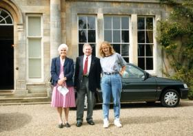 Doreen and Stan Clitherow at Fulbeck Hall, c1990s.