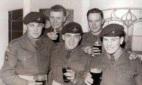 Pte Michael Wotton and pals, 3 PARA, date unknown.