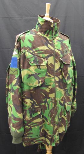Disruptive Pattern Material (DPM) Parachutist Smock, 1980s, from the Airborne Assault Museum Collection, Duxford.