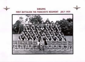 Drums. 1 PARA. July 1959.