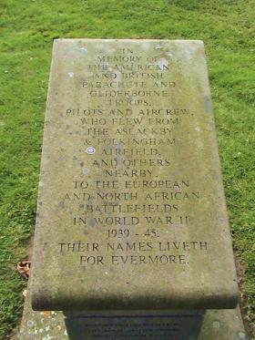 Memorial to 1st and 4th Para Brigades at Aslackby