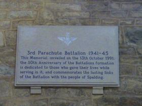 Memorial to 3 PARA in the St Mary and St Nicholas Church at Spalding