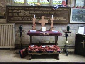 Memorial to 1st Para Sqn, RE at Donington Church