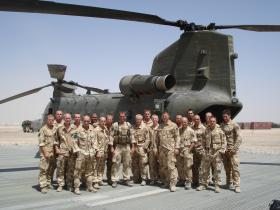 8 Platoon C Company 3 PARA on the heli pad at Camp Bastion on their rotation for the IRT Op Herrick IV