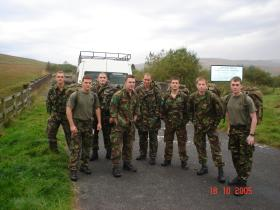 Team from 8 platoon C Company 3 PARA training for the Cambrian Patrol 2005.