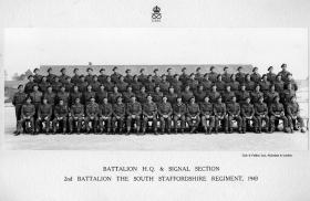 Battalion HQ Company and Signal Company, 2nd Battalion, The South Staffordshire Regiment, 1943.