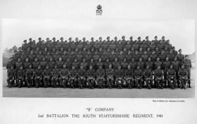 B Company, 2nd Battalion, The South Staffordshire Regiment, 1943.