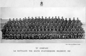 D Company, 2nd Battalion, The South Staffordshire Regiment, 1943.