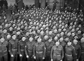 Members of 1st Airborne Division after Arnhem, Buckingham Palace, December 1944.