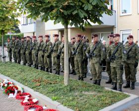 Polish Airborne Forces at the memorial service, Driel September 2012.