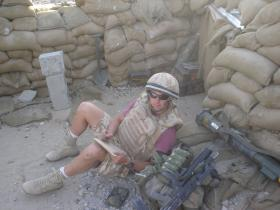 LCpl Paul Muller doing an Ammo State, Sangin 2006.