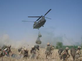 Members from C Company 3 PARA awaiting extraction from Sangin 2006