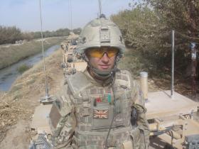 Bdr Adam Hayward onboard a Jackal convoy, Afghanistan, 2010