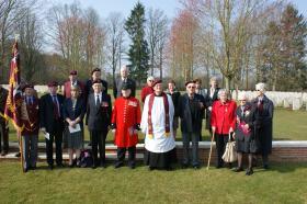 Veterans attend a Commemorative Service in the Ardennes, 2011