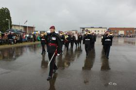 The Regimental Band at the Medals Parade for Op Herrick 13, Colchester, June 2011