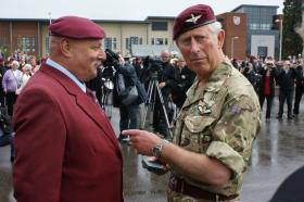 HRH Prince Charles Presents a PRA Award to Colin Comley at the Medals Parade, Colchester, June 2011