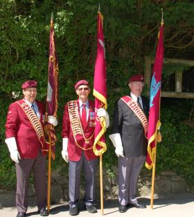 PRA Standard Bearers at Trebah Military Day, 2009