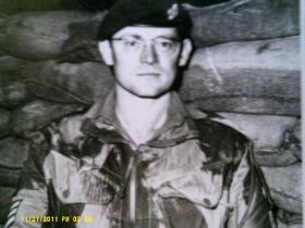 Sgt Graham Cox on his last tour of duty, 1971