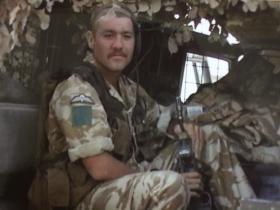 Pte Neil Edwards, 3 PARA on vehicle patrol, Iraq, 2005
