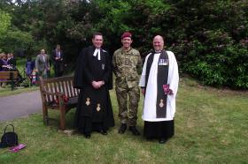 Chaplains at the Falklands 30 Year Memorial Service, June 2012