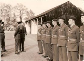 Inspection of Guards Paras by HRH Duke of Edinburgh, 1962
