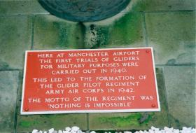 Stone commemorating the formation of the Glider Pilot Regiment.